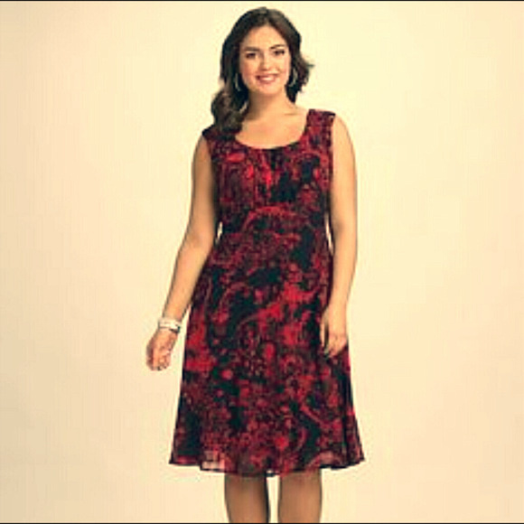 Dress Barn Dresses Dressbarn Floral Fit And Flare Cocktail Dress